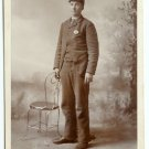 Railroad Conductor Cabinet Card