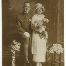 World War I Soldier and Wife Wedding Photograph