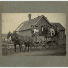 Horse, Buggy and Party Wagon