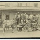 Flatbed Wagon with Workers Boudoir Card