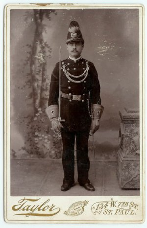 Double Armed Lodge Member Cabinet Card