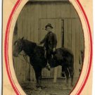 Man on a Horse Tintype