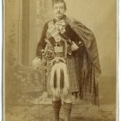 Tripled Armed Scottish Soldier Cabinet Card