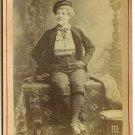 Newsboy Cabinet Card of Actress Minnie Palmer