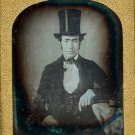 Magnificent Man Wearing a Top Hat Daguerreotype