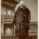 Man with a Bear Skin Fur Coat Cabinet Card