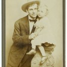 Actor and Child Actress Cabinet Card