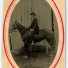 Tintype of a Man on a Horse
