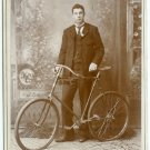 Man with a Pneumatic Bicycle