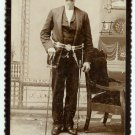 Double Armed Fraternal Cabinet Card