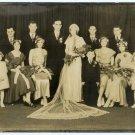 Depression Era Wedding Party Photograph