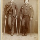 Two Men - Each on Crutches Cabinet Card