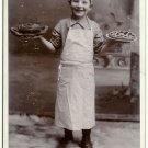 Boy Baking Pies Cabinet Card