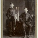 Clarinet and Trombone Players Cabinet Card