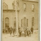 Raising the First Electric Pole