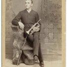 Musician Cabinet Card: Cornet and Violin