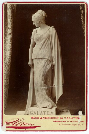 Sarony Cabinet Card of Miss Anderson as Galatea