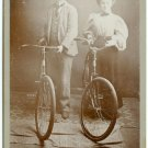Man and Woman with Pneumatic Bikes
