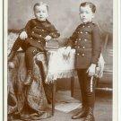 Navy Uniforms on Children Cabinet Card