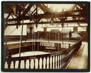 Amherst College Gym Interior Albumen