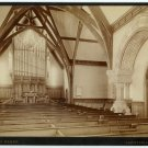 Amherst College Church Interior Albumen