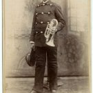 Young Trumpet Player Cabinet Card