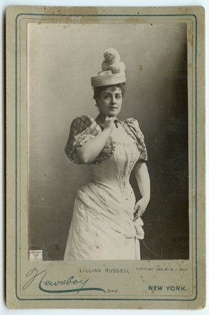 Lillian Russell by Newsboy Cabinet Cards
