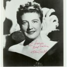 Autographed Helen Traubel Silver Photograph