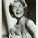 Autographed Mindy Carson Silver Photograph