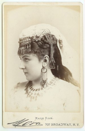 Superior Marie Roze by Mora Cabinet Card