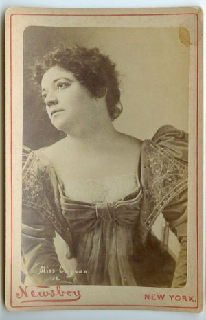 Georgia Cayvan - Actress by Newsboy Cabinet Card