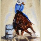 Super Soft Korean Style Queen Blanket / Throw with Barrel Racing Image - Showman