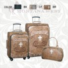 3 Piece Western Luggage Set includes Carry On Montana West Brown, Black, Coffee