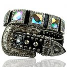 Beautiful Blinged Out Cowgirl Western Belt AB Crystal Rhinestones Prism Cut XL