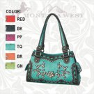 CLOSE OUT *Montana West Satchel Handbag Purse with Star, Rhinestones, Embroidery