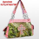 Realtree Camouflage Handbag Purse and Wallet Forest Green with Pink Accents