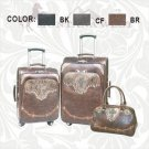 3 Piece Cowgirl Western Luggage Set by Montana West - Brown, Black