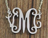 Personalized Silver Initial necklace( Up to 3 letters)
