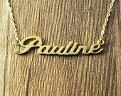 Gold plated over Silver Name Charm