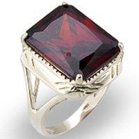 5 Ct. Garnet CZ Ring