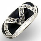 Black & Swarovski Crystal Ring