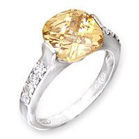 Champagne Color CZ Ring
