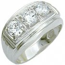 Mens Diamond CZ Ring