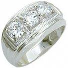 Mens Diamond CZ Ring