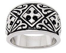 Wide Band Cross Ring