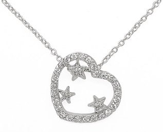 Heart w/ Stars Necklace
