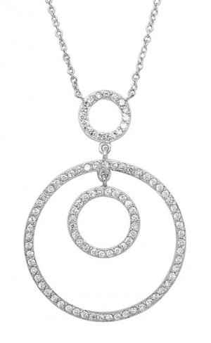Triple Circle CZ Necklace