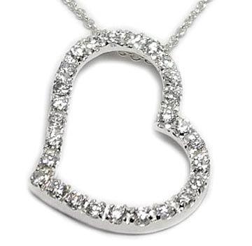 CZ Open Heart Necklace