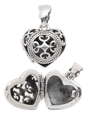 Filigree Cut Out Heart Locket