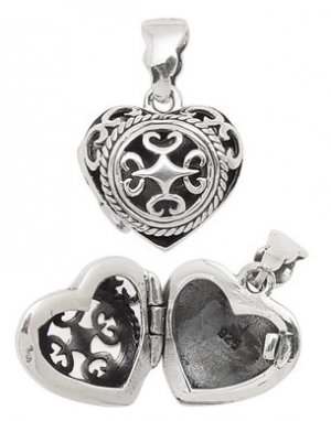 Filigree Cut Out Heart Locket